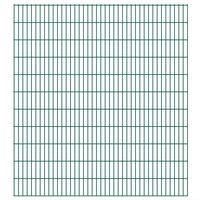 vidaXL 2D Garden Fence Panels 2.008x2.23 m 38 m (Total Length) Green