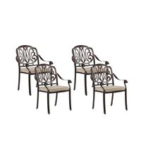 Set of 4 Garden Chairs Brown ANCONA
