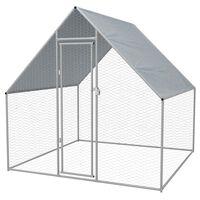 vidaXL Outdoor Chicken Cage 2x2x1.92 m Galvanised Steel