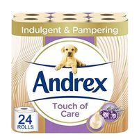 Andrex Toilet Roll Touch Of Care With Shea Butter 2 Ply, 24 Rolls