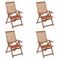 vidaXL Folding Garden Chairs 4 pcs Solid Acacia Wood