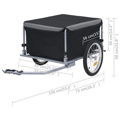vidaXL Bike Cargo Trailer Black and Grey 65 kg