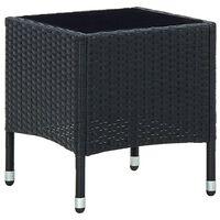 vidaXL Garden Table Black 40x40x45 cm Poly Rattan