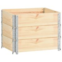 vidaXL Pallet Collars 3 pcs 60x80 cm Solid Pine Wood