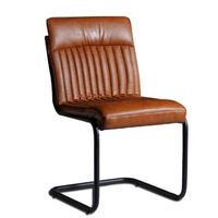Brown Modern Dining Chairs  - Set of 2 Brown 88x60x44cm (HxDxW)