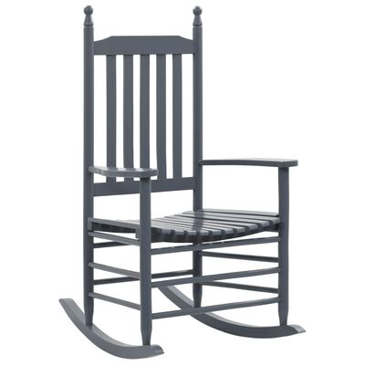 Relax in our vintage inspired solid wooden rocking chair. Featuring an elegant and timeless design, it will be a practical and classic addition to any decor.