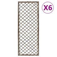vidaXL Garden Trellises 6 pcs 45x120 cm Willow