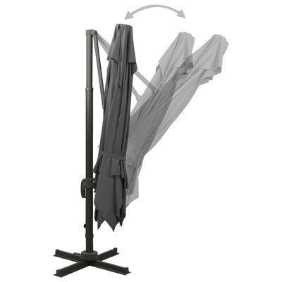 vidaXL Cantilever Umbrella with Double Top 300x300 cm Anthracite