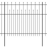 vidaXL Security Palisade Fence with Pointed Top Steel 600x175 cm Black