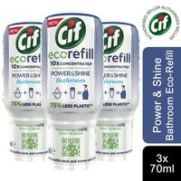 3pk Cif Power & Shine Bathroom Ecorefills, 70ml
