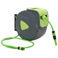 vidaXL Automatic Retractable Water Hose Reel Wall Mounted 30+2 m