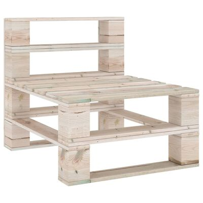 vidaXL Garden Pallet Middle Sofa Impregnated Pinewood