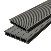 Composite Decking Boards Edging Wood Plastic / 10 SQM Castle Grey