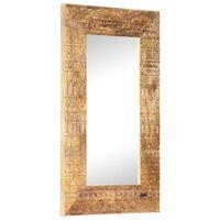 vidaXL Hand-Carved Mirror 80x50x11 cm Solid Mango Wood