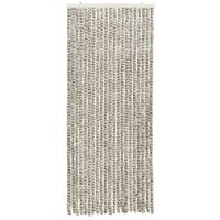 vidaXL Insect Curtain Light and Dark Grey 56x185 cm Chenille