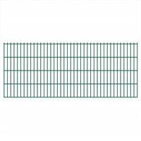 vidaXL 2D Garden Fence Panels 2.008x0.83 m 12 m (Total Length) Green