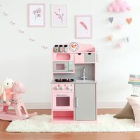 Teamson Kids - Little Chef Florence Classic Play Kitchen - Pink / Grey
