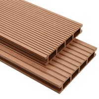 vidaXL WPC Decking Boards with Accessories 25 m² 4 m Brown