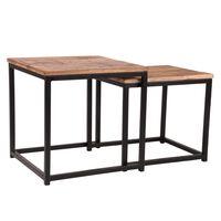 LABEL51 2 Piece Coffee Table Set Twain Wood/Black