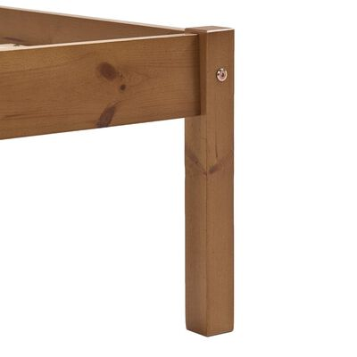 vidaXL Bed Frame with 2 Drawers Honey Brown Solid Pine Wood 180x200 cm