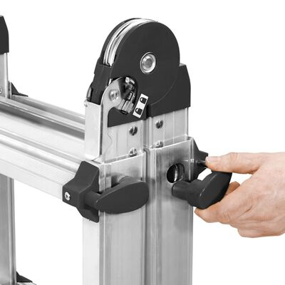 Hailo Extending Ladder MTL 123 cm Aluminium
