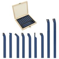 vidaXL 11 Pieces Carbide Turning Tool Set 8x8 mm P30