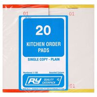 Robinson Young Kitchen Order Pads - 1x20pads