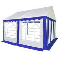 vidaXL Garden Marquee PVC 3x4 m Blue and White