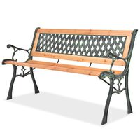 vidaXL Garden Bench 122 cm Wood