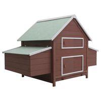 vidaXL Chicken Coop Brown 157x97x110 cm Wood