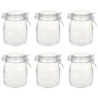 vidaXL Glass Jars with Lock 6 pcs 1 L