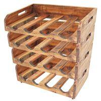 vidaXL Wine Racks 4 pcs for 16 Bottles Solid Reclaimed Wood