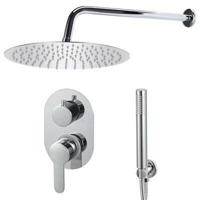 vidaXL Shower System Stainless Steel 201 Silver