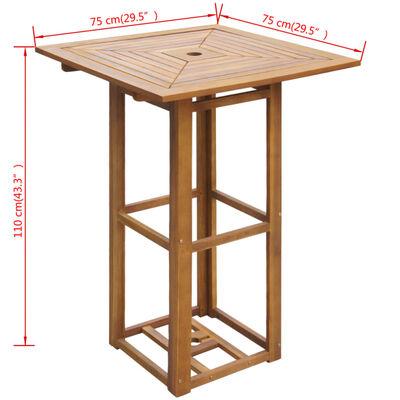vidaXL 3 Piece Bistro Set Solid Acacia Wood