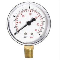 2.5 Bar Pressure Gauge Air Water 1/4 Inch Side Entry Manometer 63mm