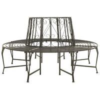 vidaXL Garden Tree Bench 160 cm Steel