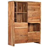 vidaXL Wine Cabinet Solid Acacia Wood Live Edges 100x40x137 cm