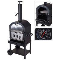 ProGarden BBQ Pizza Oven Black