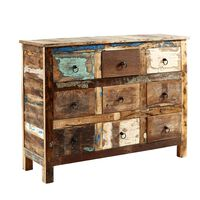 Reclaimed Boat 9 Drawer Chest 90x40x120cm (HxDxW)