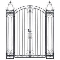 vidaXL Ornamental Garden Gate Wrought Iron 122x20.5x160 cm
