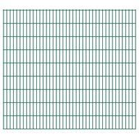 vidaXL 2D Garden Fence Panels 2.008x1.83 m 46 m (Total Length) Green