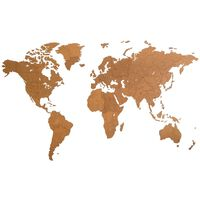 MiMi Innovations Wooden World Map Wall Decoration Giant Brown 280x170 cm