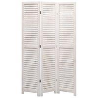 vidaXL 3-Panel Room Divider 105x165 cm Wood