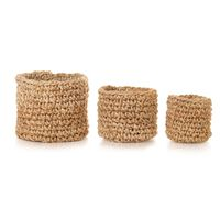vidaXL Storage Basket Set 3 Pieces Braided Jute Natural