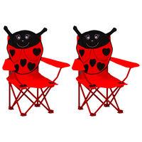 vidaXL Kids' Garden Chairs 2 pcs Red Fabric