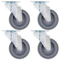 vidaXL 8 pcs Swivel Casters 75 mm