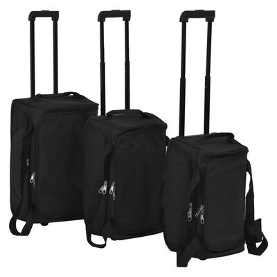 With this 3-piece luggage set, you can easily take along everything you need when travelling. Thanks to the different size of these trolley bags, the set is suitable for short or long trips.
