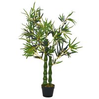 vidaXL Artificial Plant Bamboo with Pot Green 110 cm