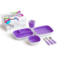 Munchkin 7 Piece Table Dining Set Color Me Hungry Purple