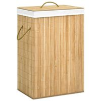 vidaXL Bamboo Laundry Basket 72 L